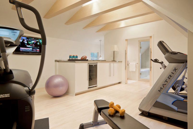 Private garage and gym u2013 arikgreendesign